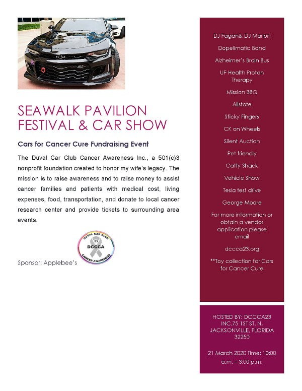 Seawalk Pavilion Festival and Car Show Updated