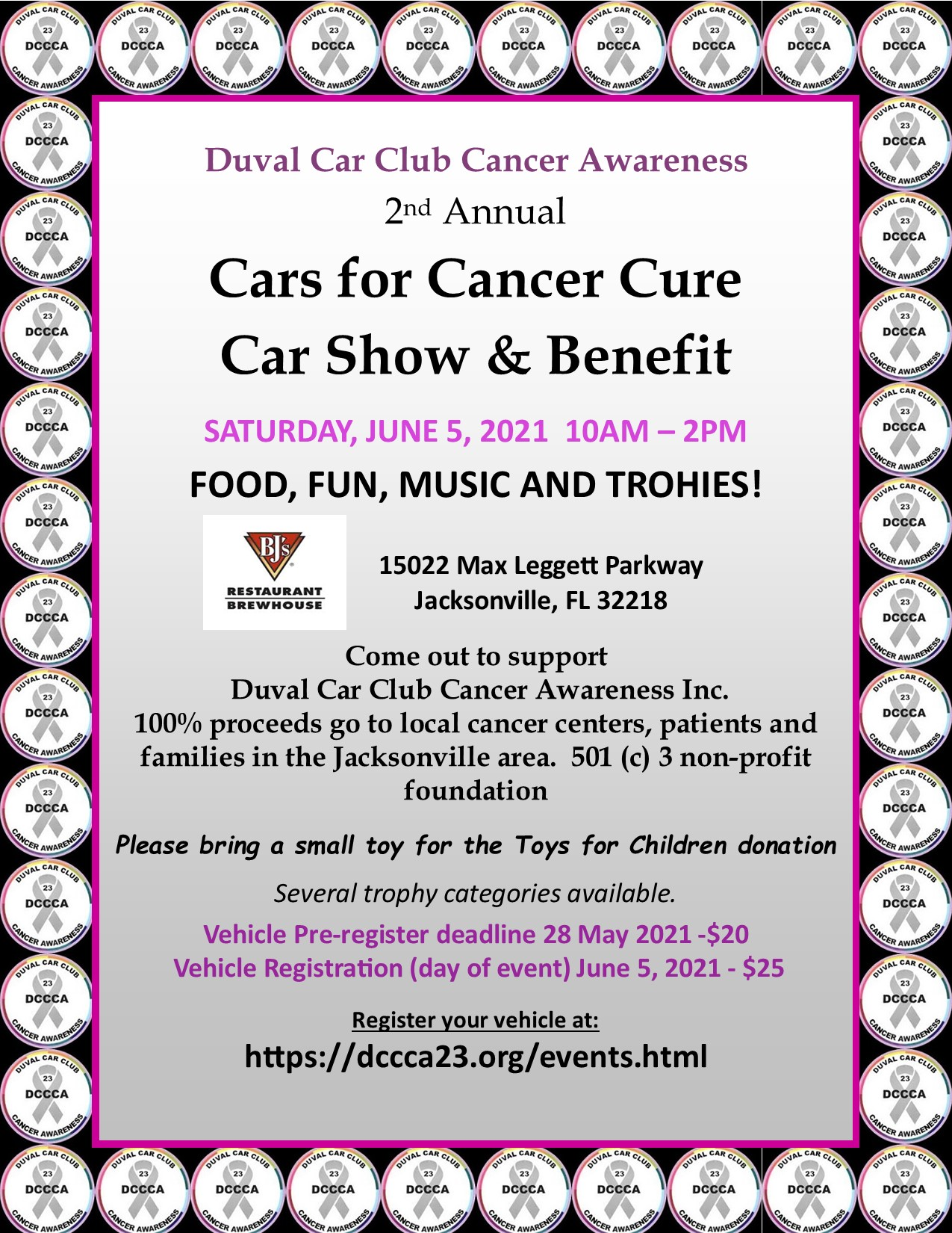 2nd Annual Cars for Cancer Cure Car Show & Benefit